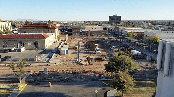 Construction by LCCP of Civic Plaza to be completed August 2016